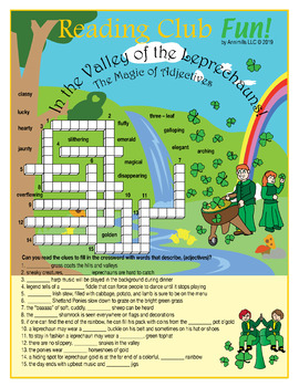 Leprechaun Valley (Magical Adjectives) Crossword Puzzle