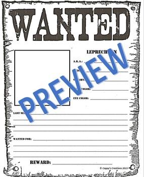 Leprechaun Wanted Poster