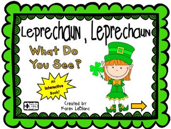 Leprechaun What Do You See? INTERACTIVE BOOK