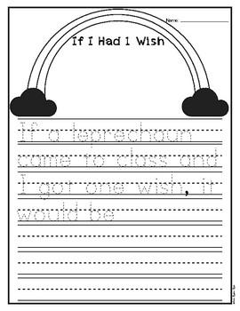 Leprechaun Wish Writing