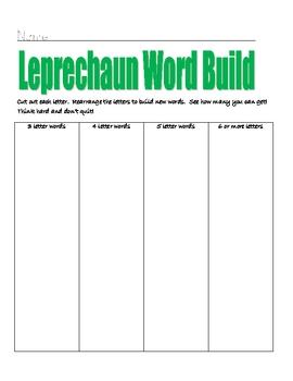 Leprechaun Word build