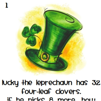 Leprechaun Write the Room - Story Problems