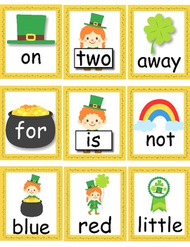 Leprechaun Write the Room with Sight Words