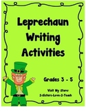 Leprechaun Writing Activities - CCSS Aligned - St. Patrick's Day