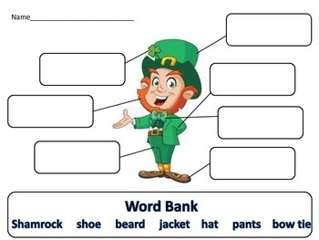 Leprechaun Writing Activity Daily 5 Literacy Station Word Work
