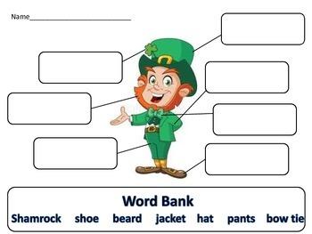 Leprechaun Writing Activity Daily 5 Literacy Station Word Work