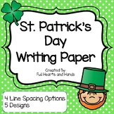 Leprechaun Writing Paper