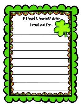 Leprechaun Yourself Writing Craftivity