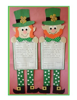 Leprechaun application, craft, and activities