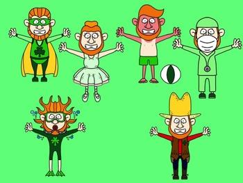 Leprechaun in Disguise Clip Art Set