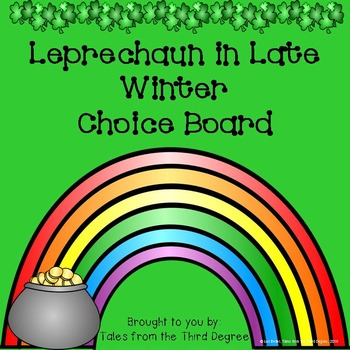 Leprechaun in Late Winter Activities Choice Board