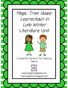 Magic Tree House #43 Leprechaun in Late Winter Literature Unit