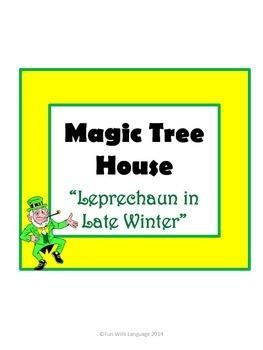 Leprechaun in Late Winter Magic Tree House #43 Comprehension Novel Study
