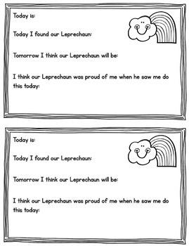Leprechaun on a Classroom Shelf {A St. Patrick's Day Activity}