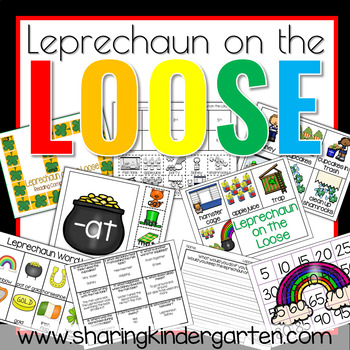 Leprechaun on the Loose {Game and Writing Prompts}