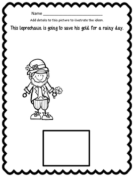 St. Patrick's Day - Leprechaun Idiom Classbook and Literacy Center Game