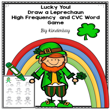 Lucky You High Frequency And CVC Words Draw A Leprechaun Game By