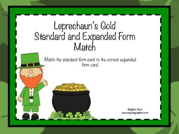 Leprechaun's Gold Standard and Expanded Form Match