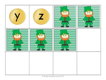 St. Patrick's Day Letter and Sound Game - Leprechaun's Gold - EASY PREP