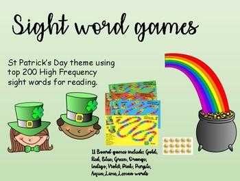 Leprechaun sight word game #luckydeals #magic200words