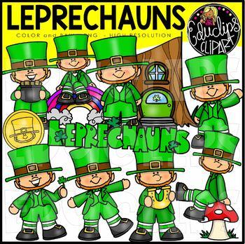 Leprechauns Clip Art Bundle {Educlips Clipart}