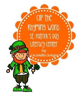 Leprechauns Clip the Rhyming Words
