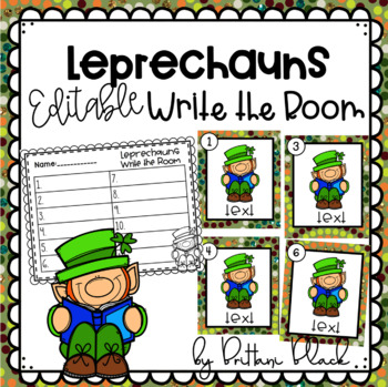 Leprechauns- Editable Write the Room