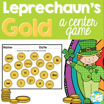 Leprechaun S Gold A St Patrick S Sight Word Game TpT