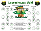 Leprechaun's Gold - St. Patrick's Day Addition and Subtraction Game