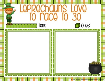 Leprechauns Love to Race-Differentiated St. Patrick's Place Value Freebie