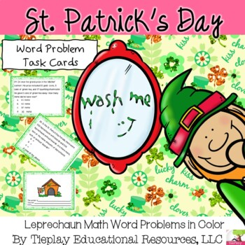 Leprechaun Math Word Problems St Patrick S Day TpT
