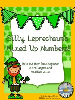 St. Patrick's Day place value game (thousands)