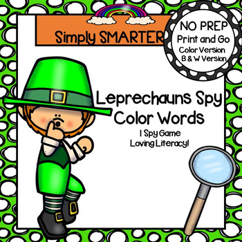 Leprechauns Spy Color Words:  NO PREP I Spy Game
