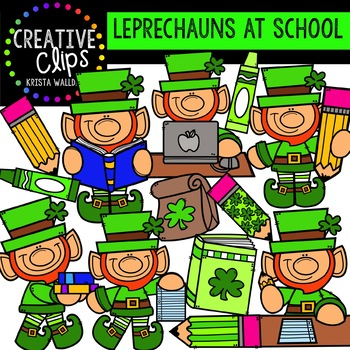 Leprechauns at School: St. Patrick's Day Clipart {Creative Clips Clipart}