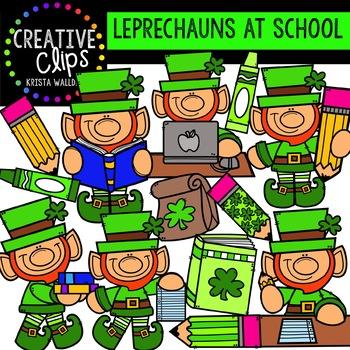 Leprechauns at School: St. Patrick's Day Clipart {Creative