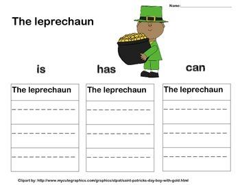 Leprechuan graphic organizer