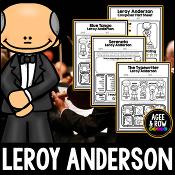 Leroy Anderson, American Composer, Classical Listening Sheets, Orchestra