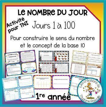 Les 100 jours - nombre du jour / 100 days of school