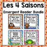 Les 4 saisons:  Four Seasons Emergent Reader BUNDLE in French