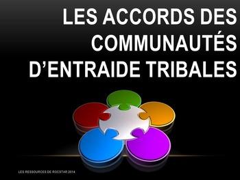 Les 5 accords des communautés d'entraide tribales (affiches foncées)
