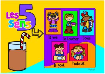 Les 5 sens Digital Task Cards • FRENCH