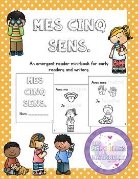 Les 5 sens/5 senses - French Emergent Reader