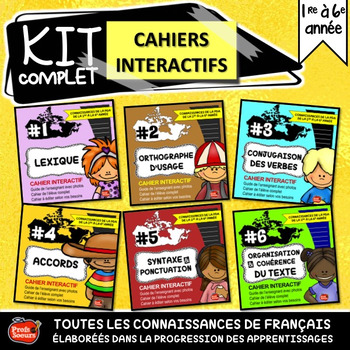 Cahiers interactifs en français / French interactive notebooks / Flipbook