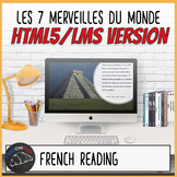 Les 7 Merveilles du Monde - HTML5/LMS French reading activity
