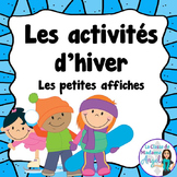 Les activités d'hiver - Mini Winter Activity Posters in French