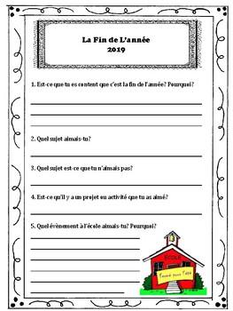 Les Activités de la Fin de L'année - End of Year French Activities