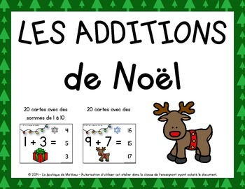 Les Additions de Noël (Christmas additions in FRENCH)
