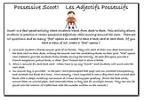 Les Adjectifs Possessifs - Scoot!  (Possessive Adjectives for French)