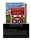 Les Adjectives Possessive Worksheet - Possessive adjectives FRENCH
