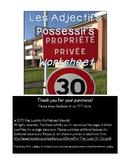 Les Adjectives Possessive Worksheet - Possessive adjective
